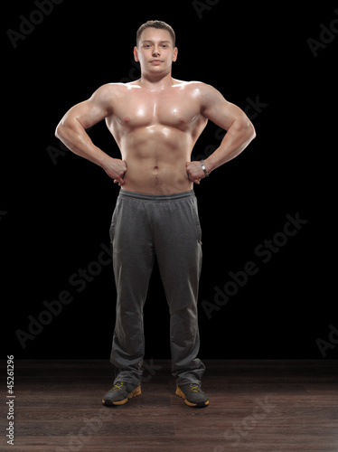 Weightlifter in studio