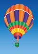 Heißluftballon - mit Brenner in Aktion