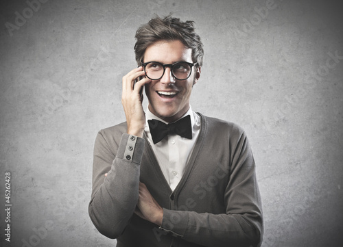 Fashionable Man Calling