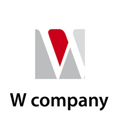 Vector Logo initial letter W