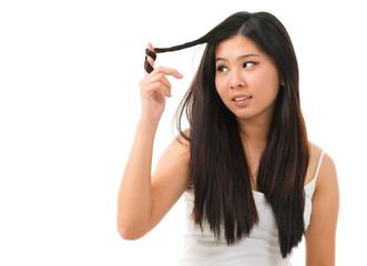 Damaged dry hair
