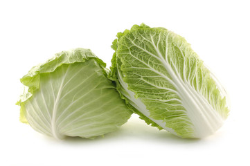 Pair of fresh cabbage