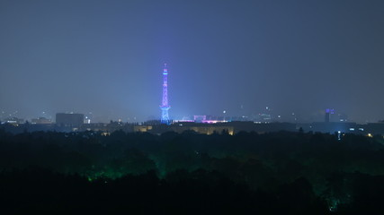 Berlin Skyline Light City Funkturm Timelapse in Full HD, Germany