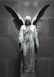 Leinwandbild Motiv Monument of old angel on cemetery in Warsaw