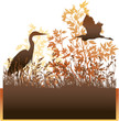 Wildlife vector label