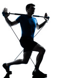 man exercising gymstick workout fitness posture