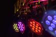 Leinwanddruck Bild - LED spotlight on truss tri-led perspective
