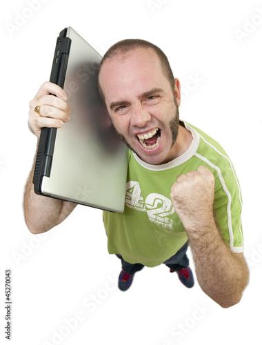 Informaticien satisfait