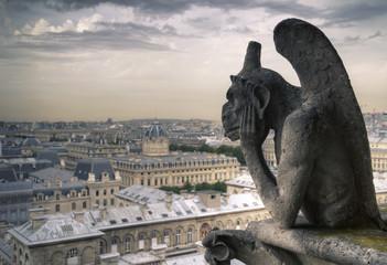 Famous Notre Dame Gargoyle