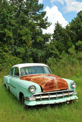 Old 50s Rusting Car