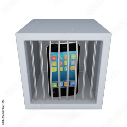Mobile phone in a jail.