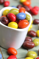 colorful chocolate drops