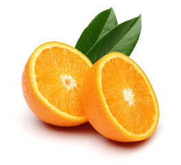 Fresh Two half orange