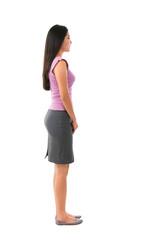 Side view full body Asian female