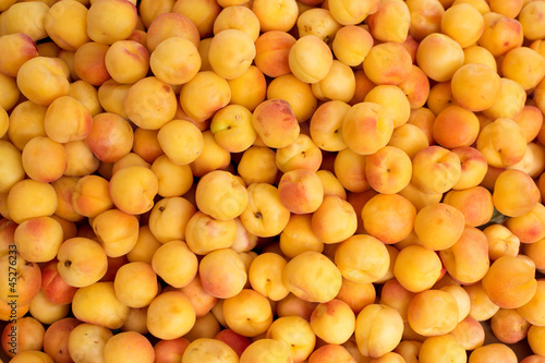 apricot pattern texture on a market display
