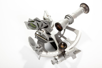 Sextant on white background