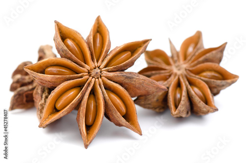 Anise isolated on white background