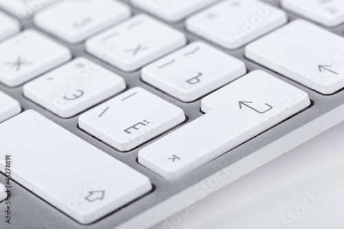 Enter button on white keyboard