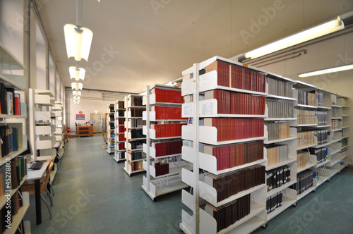 Spoed canvasdoek 2cm dik Bibliotheek Universitäts Bibliothek