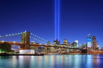 Manhattan Skyline and Tribute in LIght