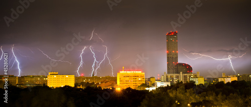 Lightnings over the city
