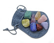Pouch with Chakra Crystal Set