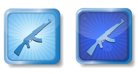 blue radial weapons icon