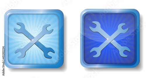 blue radial wrench icon