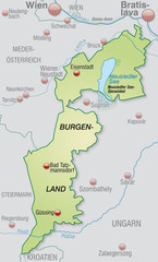 Umgebungskarte des Kantons Burgenland