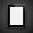 Realistic tablet pc computer isolated on a grey background.