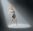 Fashion Model in the Spotlight