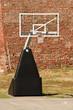 Basketball hoop on basketball court outdoor