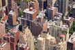 Downtown City Birds Eye View