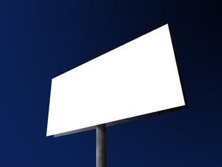 Blank big billboard
