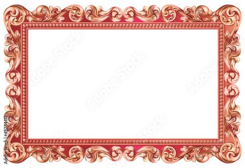 cadre baroque rectangulaire m tallis rouge de annie g fichier vectoriel libre de droits. Black Bedroom Furniture Sets. Home Design Ideas