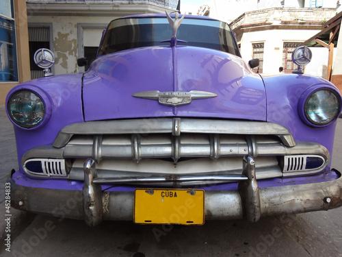 Poster Cubaanse oldtimers Auto d'epoca a L'Havana