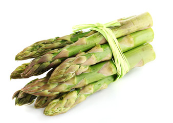 Useful asparagus isolated on white