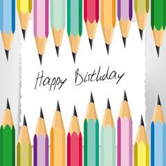 Happy Birthday Buntstifte