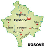 Map of  Kosovo as an overview poster