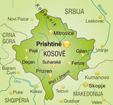 Map of  Kosovo poster