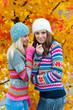 two teen woman friends