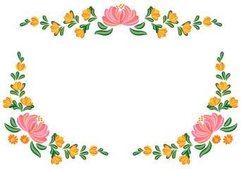 トールペイントの花模様