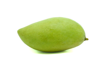 a green mango ion white background