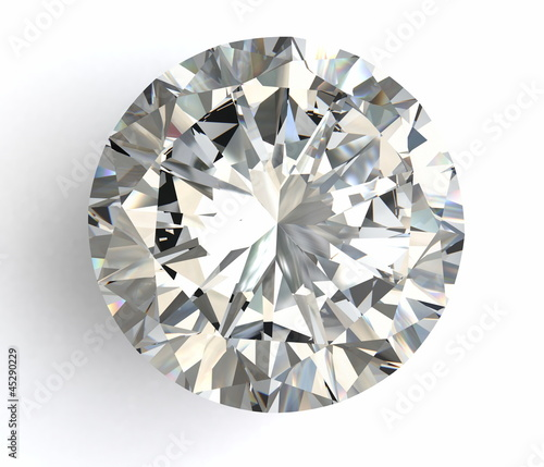 Leinwanddruck Bild diamond on white background with high quality