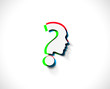 vector symbol of question mark in colorful background.