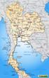 Autobahnkarte von Thailand und Umland