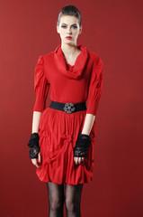 Beautiful fashion casual girl standing posing