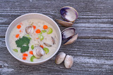 Clam chowder soup