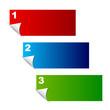 Banner mit Optionen 1-3
