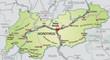 Umgebungskarte von Tirol mit Autobahnen